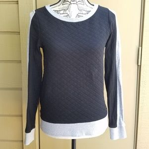 Guess Color Block Long Sleeve Top